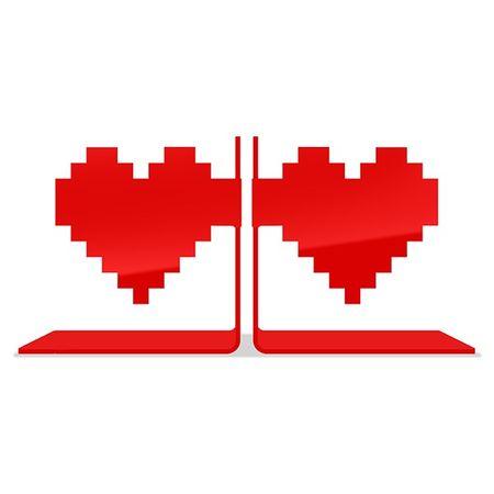 Tudo sobre 'Porta Livros Coração Pixel'