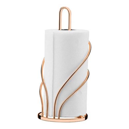 Porta Papel Toalha de Mesa Metal Cobre Rose Gold Future