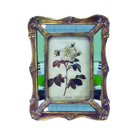 Porta-retrato 10x15 Espelhado Dourado