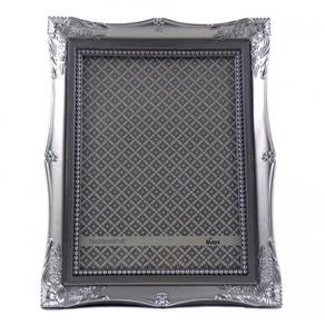 Porta Retrato 15X20Cm Plastico Vintage Prata