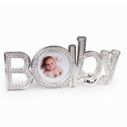 Tudo sobre 'Porta-Retrato Baby com Strass - Prata'