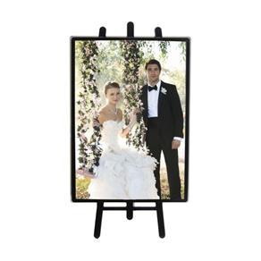 Porta Retrato Cavalete 10x15 Vertical Preto