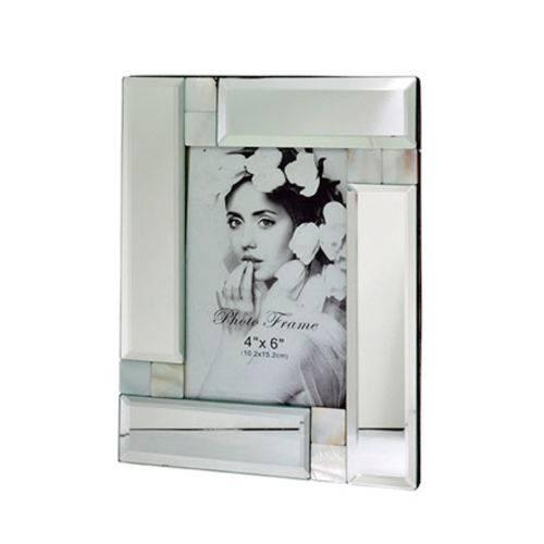 Porta Retrato de Vidro Espelhado 4x6cm