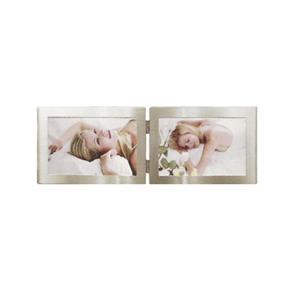 Porta Retrato Duplo 15X10 - Prata