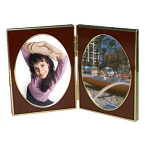 Porta-retrato Duplo 9 X 13 Cm - Marrom