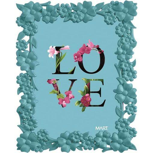 Tudo sobre 'Porta Retrato Love 5514 13x18 Azul Mart'