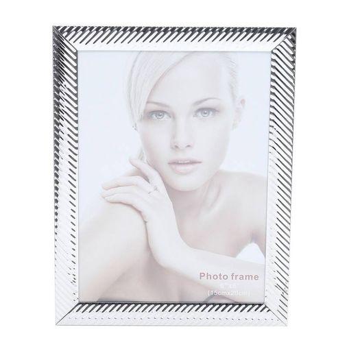 Porta Retrato Prata para 1 Foto 10x15cm Lines Prestige