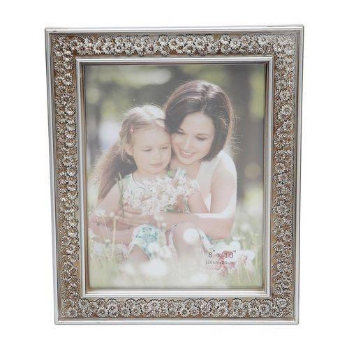 Porta Retrato Prata para 1 Foto 10x15cm Margarida Prestige