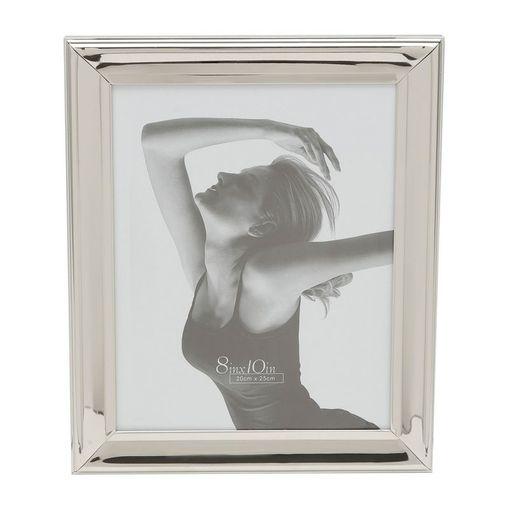 Porta Retrato Prata para 1 Foto 10x15cm Sunshine Prestige