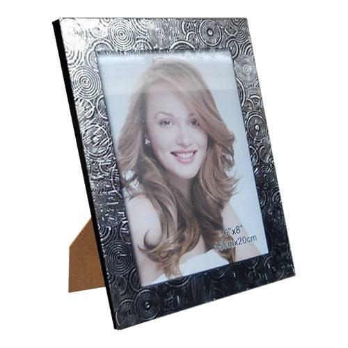 Porta Retrato Preto Plástico 15x20cm