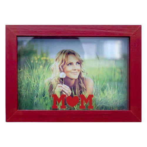 Porta Retratos de Mesa para Foto 10x15 Cm Mom Vermelho