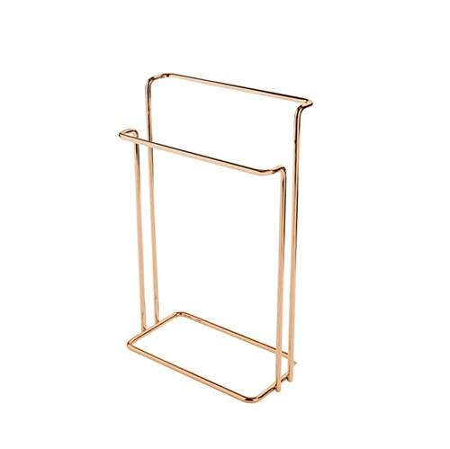 Porta Toalha Banho Metal e Plástico Barra Soft Barroque Future