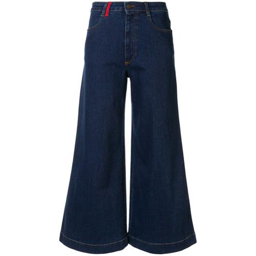 Ports 1961 Calça Jeans Flare Cropped - Azul