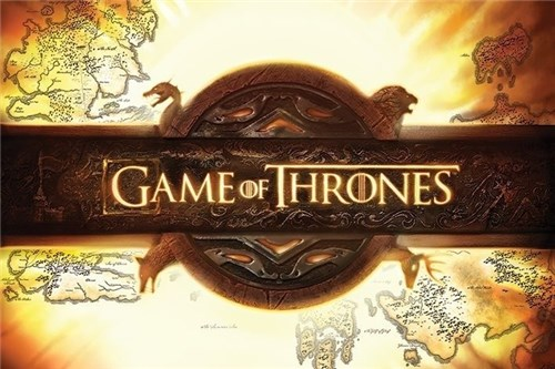 Pôster Game Of Thrones Mapa