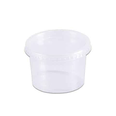 Pote Plástico Redondo Transparente Freezer/Microondas 145ml C/24 - Prafesta