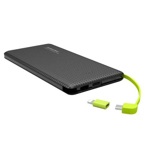 Tudo sobre 'Power Bank 5000 Mah Preto Pineng Slim'