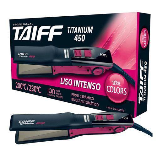 Tudo sobre 'Prancha Titanium Colors Pink Bivolt Taiff Bivolt'
