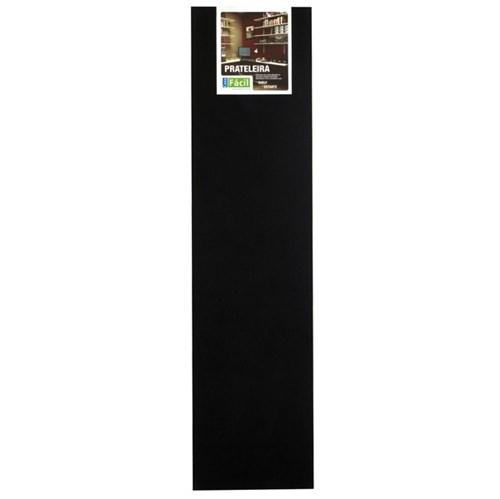 Prateleira Sem Suporte 120x30cm Madeira Preta Foil Casa Fácil
