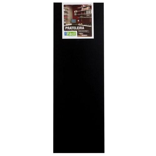 Prateleira Sem Suporte 90x30cm Madeira Preta Foil Casa Fácil