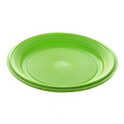 Prato de Plástico Descartável Verde Ø 15cm com 10 Unidades Trik Trik