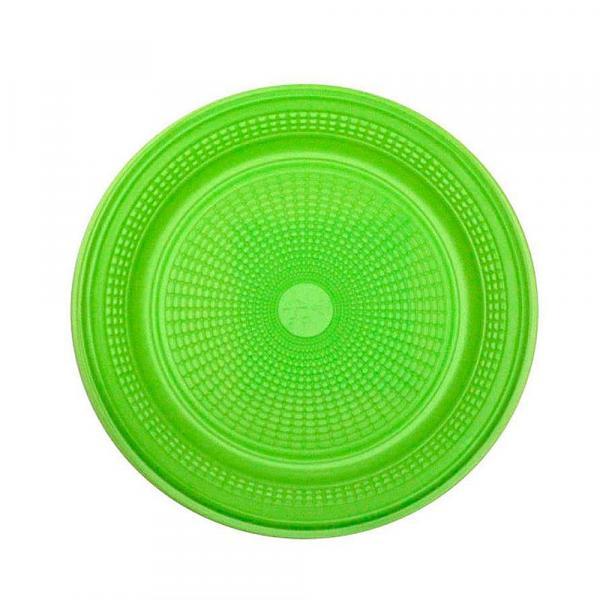 Prato Descartável para Bolo Verde 15cm C/10 - Trik Trik