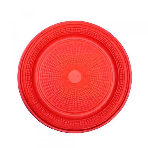 Prato Descartável para Bolo Vermelho 15cm C/10 - Trik Trik - Trik-trik