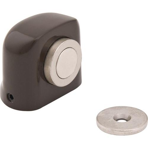 Prendedor de Porta Chão Parafusar Alumínio Marrom 1 Peça