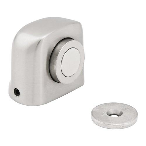 Prendedor de Porta Chão Parafusar Alumínio Prata 1 Peça