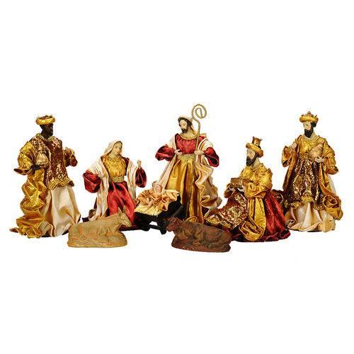Presépio Magizi Plus Seda 8 Figuras 25 Cm Vinho / Creme 17902