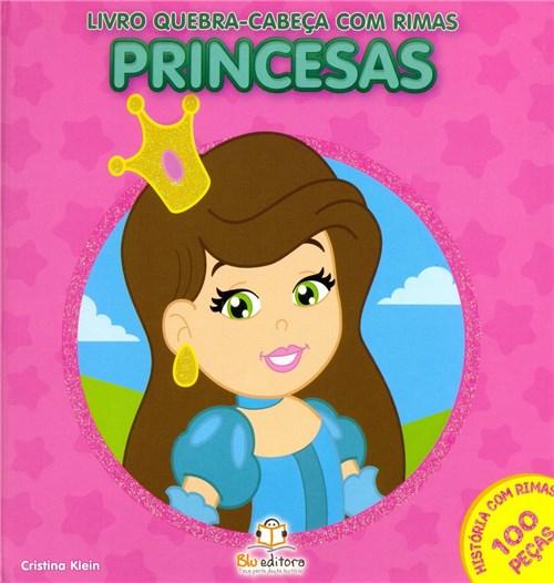Princesas: Livro Quebra-Cabeça com Rimas