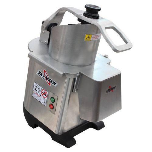 Tudo sobre 'Processador de Alimentos Industrial Inox Skymsen com 6 Discos Diâmetro 203mm 0,5CV PA-7'