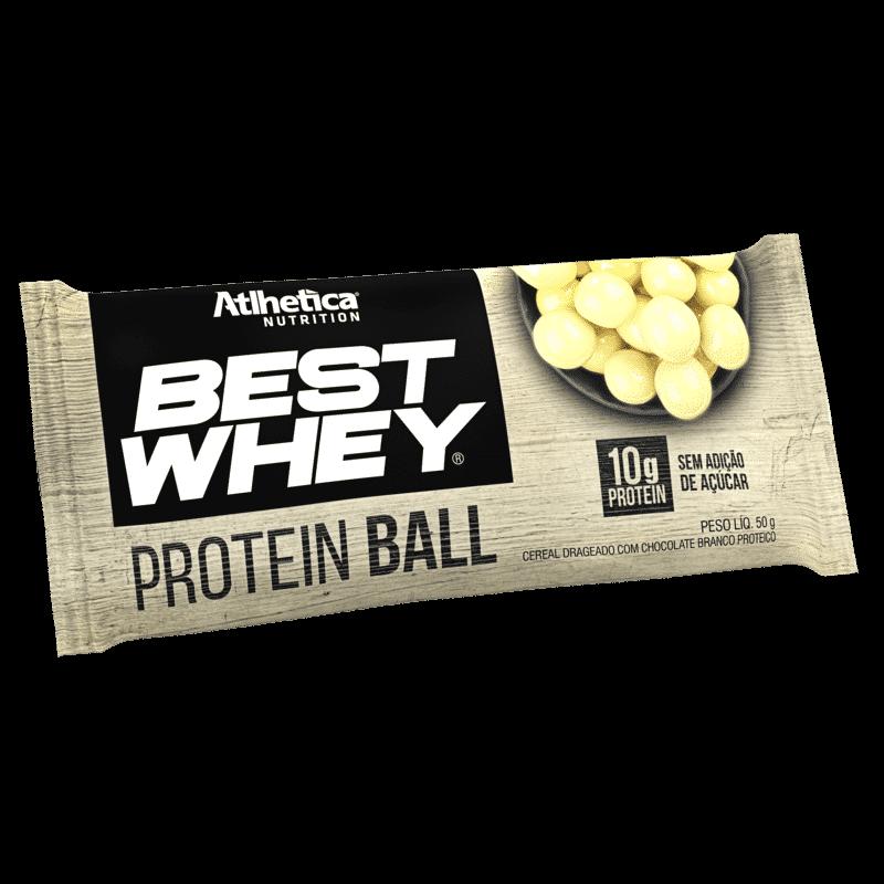Protein Ball de Chocolate Branco Atlhetica 50G
