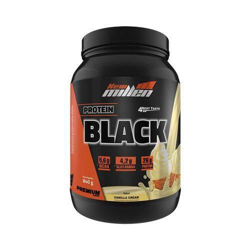 Protein Black 4w 840g - Vanilla Cream - New Millen