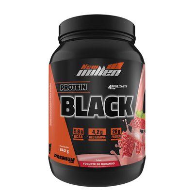 Protein Black 840g New Millen Protein Black 840g Morango New Millen