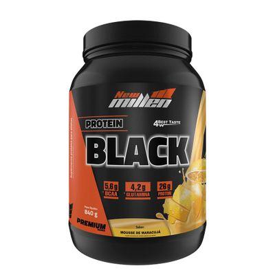 Protein Black 840g New Millen Protein Black 840g Mousse Maracujá New Millen
