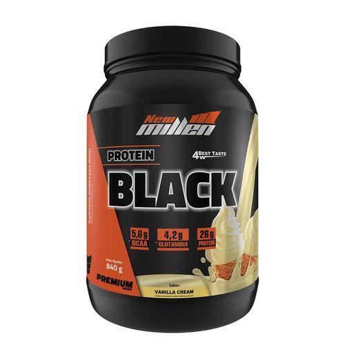 Protein Black 840g New Millen Protein Black 840g Vanilla Cream New Millen
