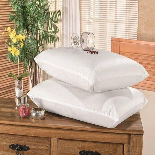 Protetor Capa Travesseiro Impermeável 2 Peças Branco