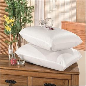 Protetor Capa Travesseiro Impermeável 2 Peças - Branco