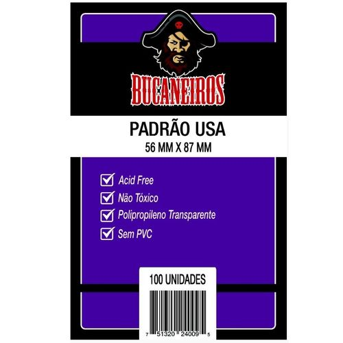 Tudo sobre 'Protetor de Cartas PADRÃO USA (56x87) - Bucaneiros'