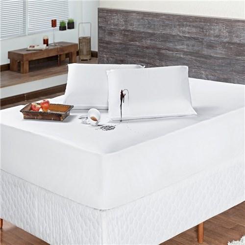 Protetor de Colchão Impermeável Casal Branco - 01 Peça