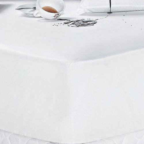 Protetor de Colchão Impermeável Solteiro Liso Branco