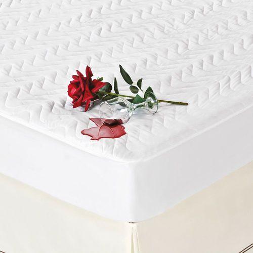 Protetor de Colchão Solteiro Impermeável 100% Algodão Branco