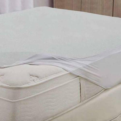 Protetor de Colchão Solteiro Impermeável Branco Protect Care
