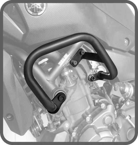 Protetor de Motor e Carenagem Aço Carbono Preto Yamaha MT07 2015 em Diante - Scam