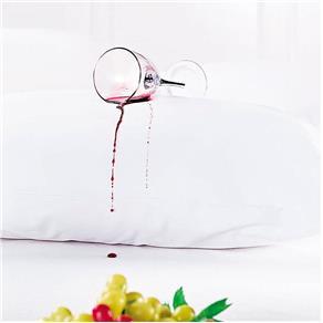 Protetor de Travesseiro Impermeável Branco com 1 Peças