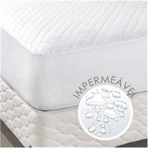 Protetor Impermeável de Colchão Casal Queen Branco - Branco