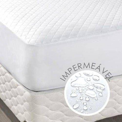 Protetor Impermeável de Colchão Casal Queen Branco