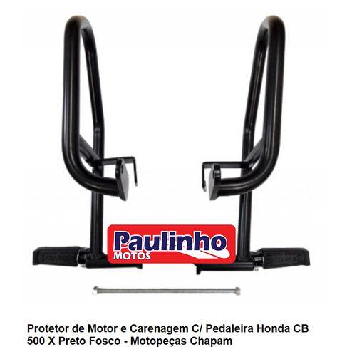 Tudo sobre 'Protetor Motor e Carenagem Chapam CB 500 X 2015 Fosco Preto'