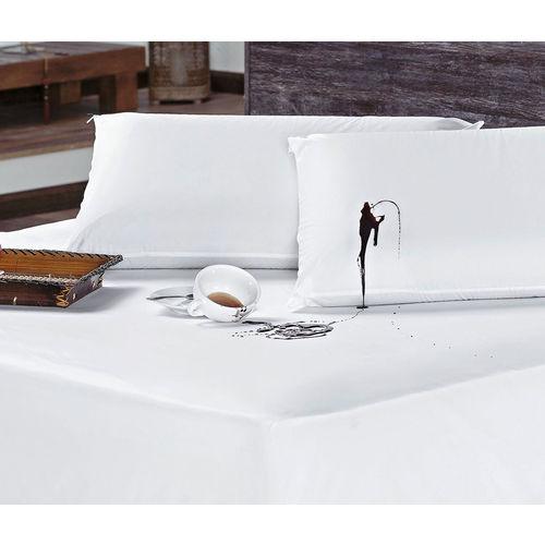 Protetor para Colchão Casal Padrão Impermeável Liso - Branco