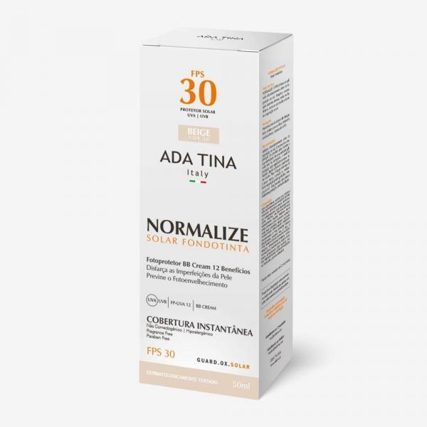 Protetor Solar Ada Tina Normalize FPS 30 50ml - Beige Cor 30